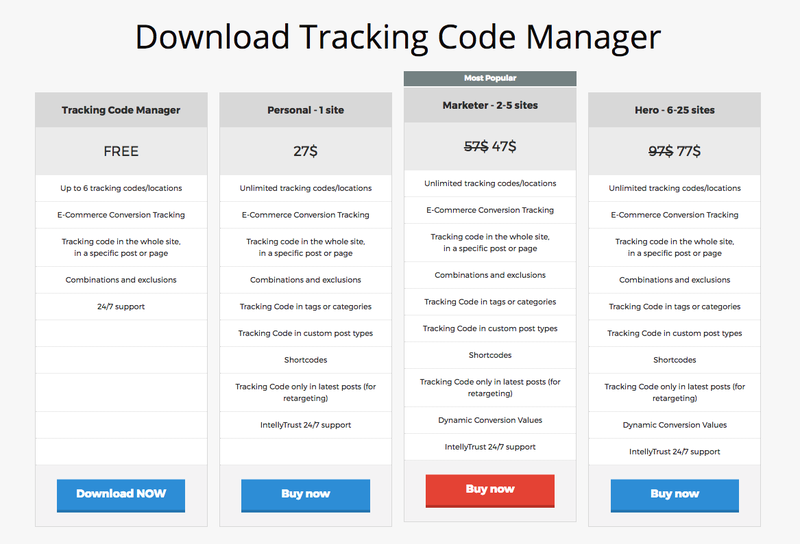 wp tracking package plan